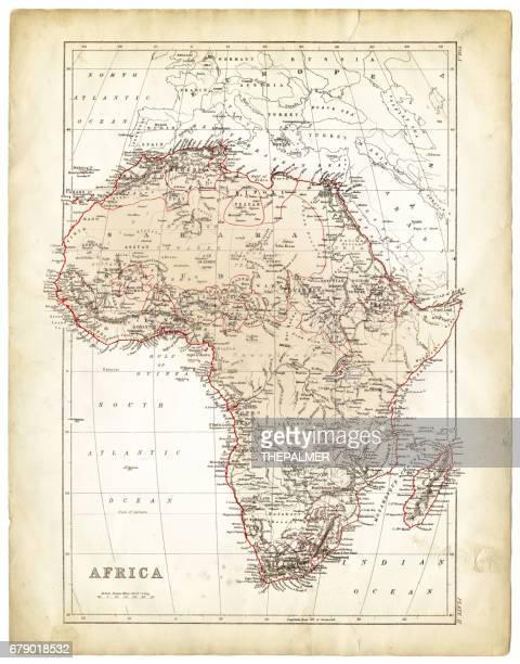 africa map 1878 - madagascar stock illustrations, clip art, cartoons, & icons