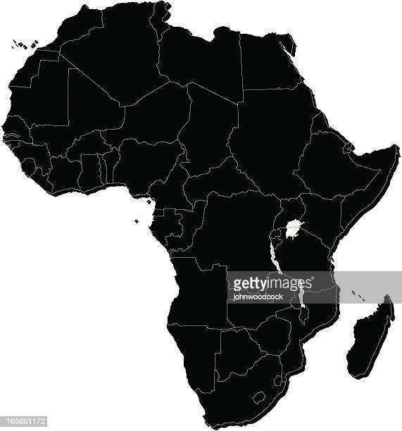 africa mono map - canary islands stock illustrations, clip art, cartoons, & icons