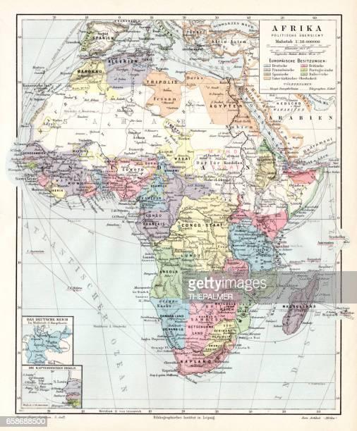 Africa political map 1895