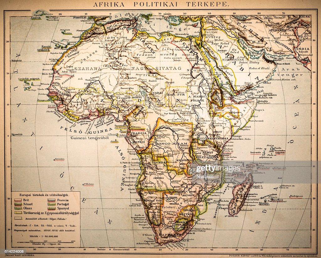 Africa Political Map : stock illustration