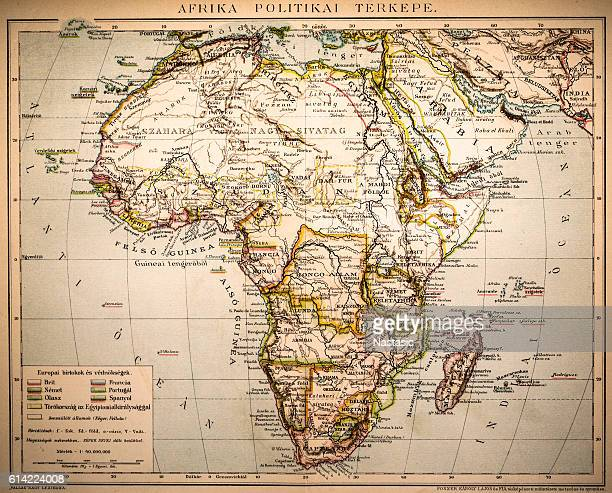 africa political map - politics and government stock illustrations