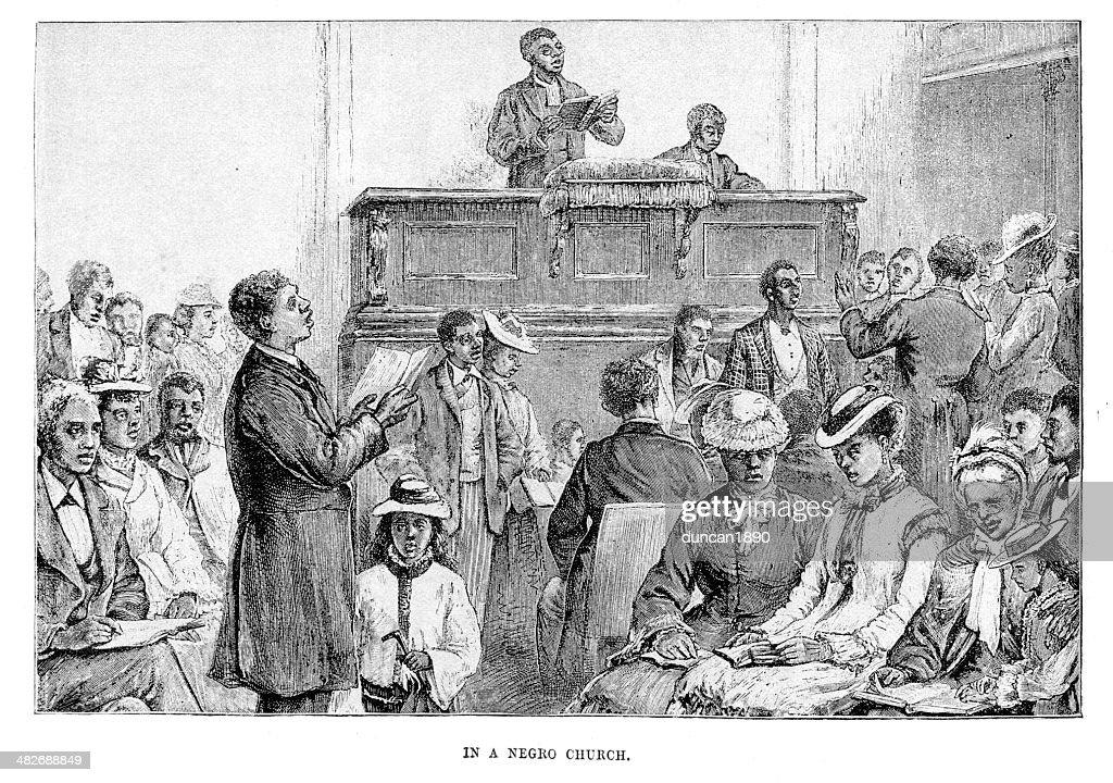 Igreja afro-americano : Ilustração