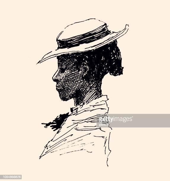 african american woman (xxxl) - history stock illustrations