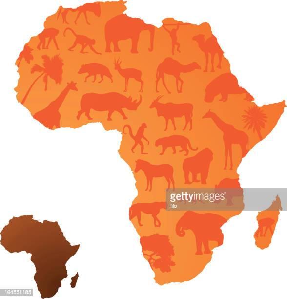 african animals - kudu stock illustrations, clip art, cartoons, & icons