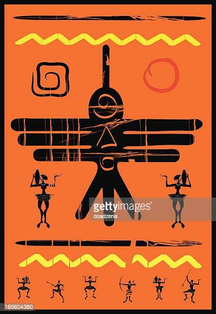 ilustrações, clipart, desenhos animados e ícones de pássaro étnica africano - níger