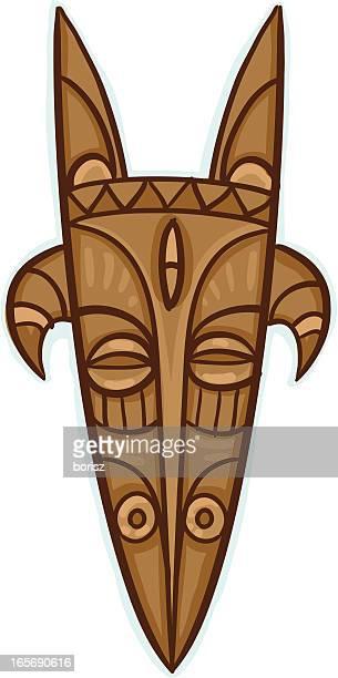 illustrations, cliparts, dessins animés et icônes de afrique-head - masque africain