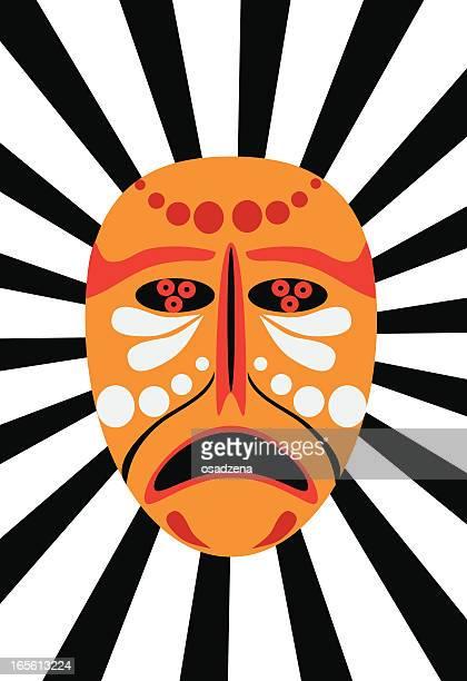 illustrations, cliparts, dessins animés et icônes de masque africain - masque africain