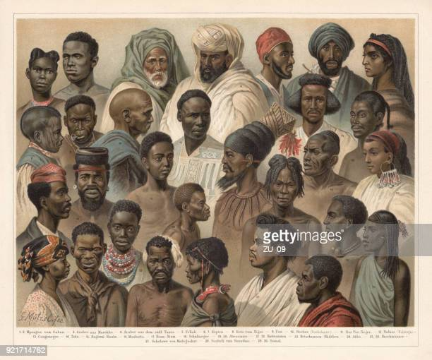 African Native People, lithograph, published in 1897