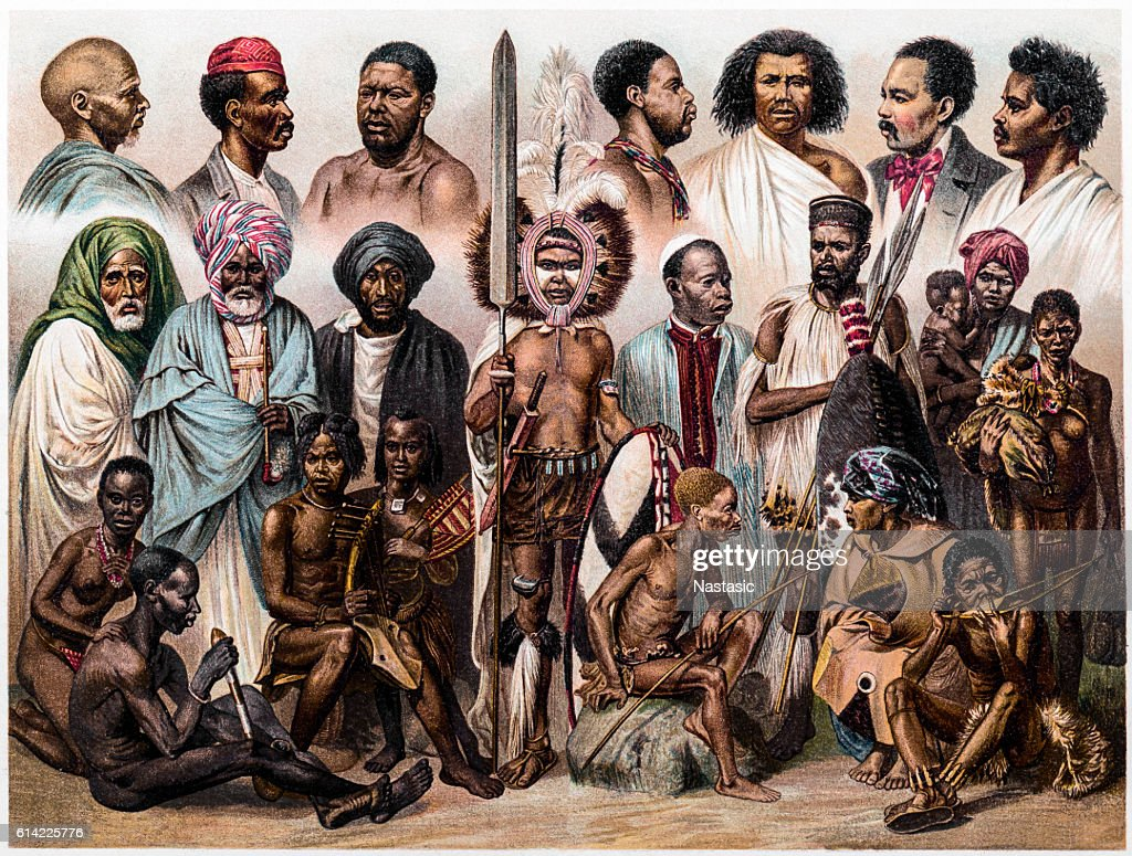 African people : stock illustration