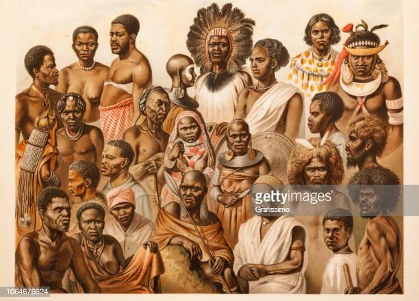illustrations, cliparts, dessins animés et icônes de la culture tribale africaine hommes et femmes de différentes tribus - femme africaine