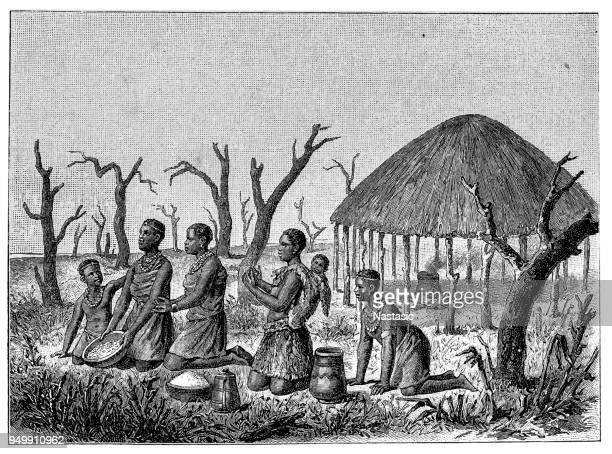 african woman ,the most beautiful of their tribes, give gifts - eswatini stock illustrations, clip art, cartoons, & icons