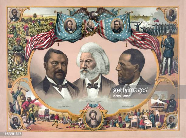 african-american heroes - us president stock illustrations