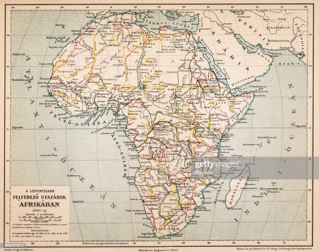 Afrikas Erforschung Reiseplattform : Stock-Illustration