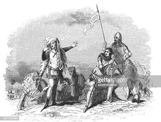 after the battle of homildon hill - works of william shakespeare - northumberland stock illustrations, clip art, cartoons, & icons