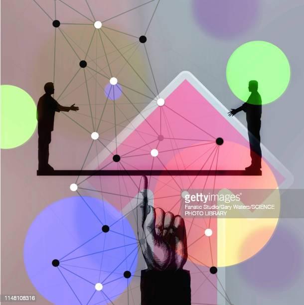 agreement, conceptual illustration - vertical stock illustrations