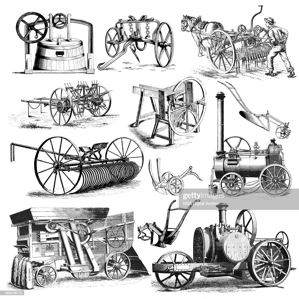 agricultural farmers machinery and equipment illustrations vintage rh gettyimages com terrace farming clipart farming clipart images