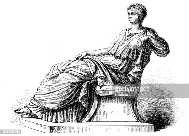 agrippina the elder (14 bc - 33) - roman stock illustrations, clip art, cartoons, & icons
