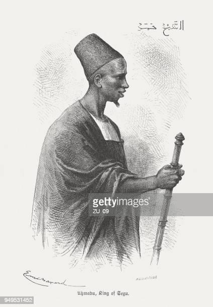 ahmadou sekou tall (1836-1897), toucouleur ruler, wood engraving, published 1868 - mali stock illustrations, clip art, cartoons, & icons