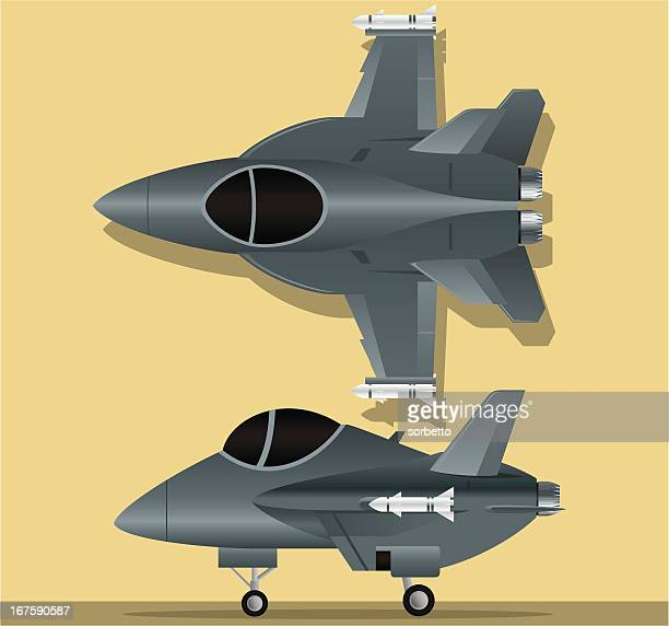 air force f-18 - fa 18 hornet stock illustrations