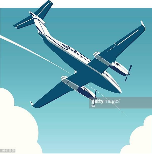 ilustraciones, imágenes clip art, dibujos animados e iconos de stock de viaje aéreo [ vector ] - vista de ángulo bajo