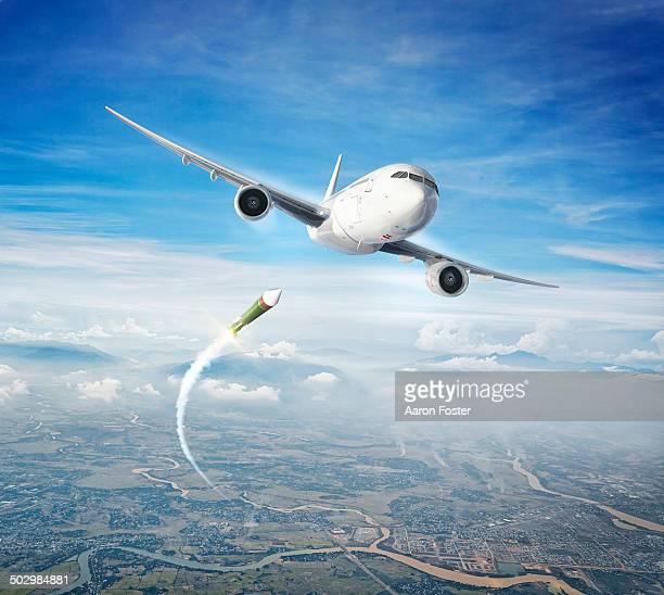 aircraft attack - war stock illustrations