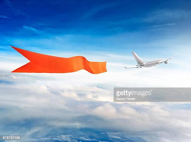 ilustraciones, imágenes clip art, dibujos animados e iconos de stock de aircraft bbanner - aire libre