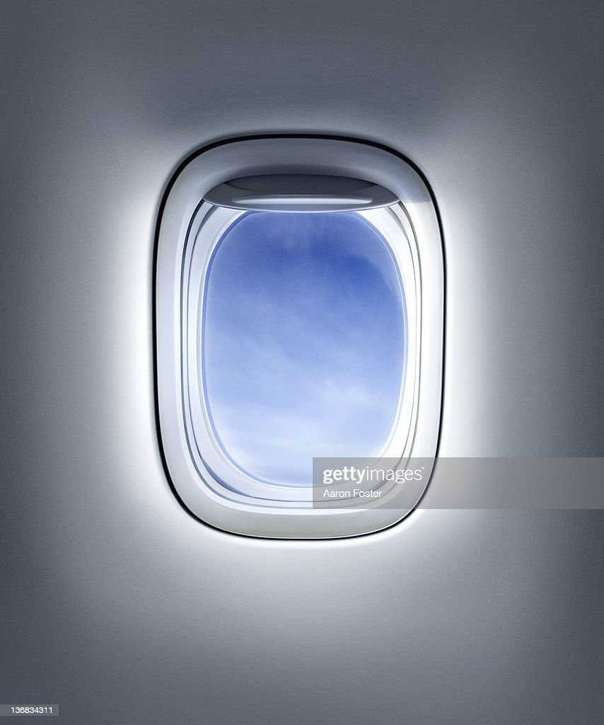 Aircraft Window or plane : stock illustration