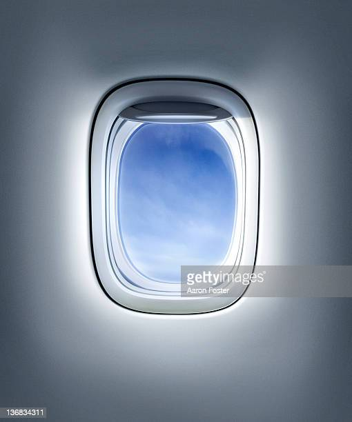 aircraft window or plane - flugzeug stock-grafiken, -clipart, -cartoons und -symbole