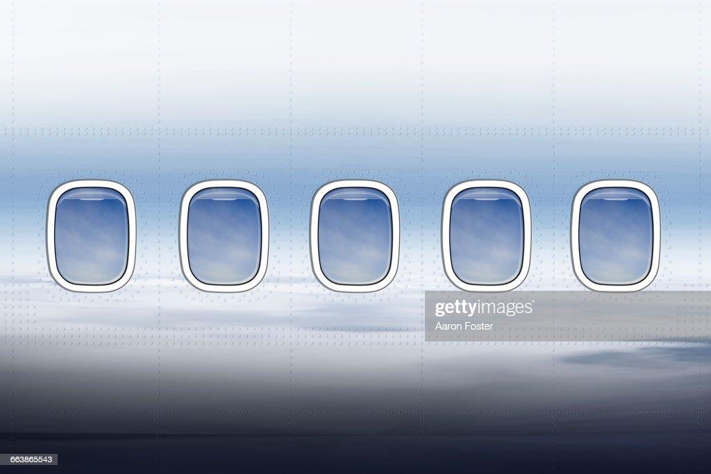 Aircraft windows : Ilustración de stock