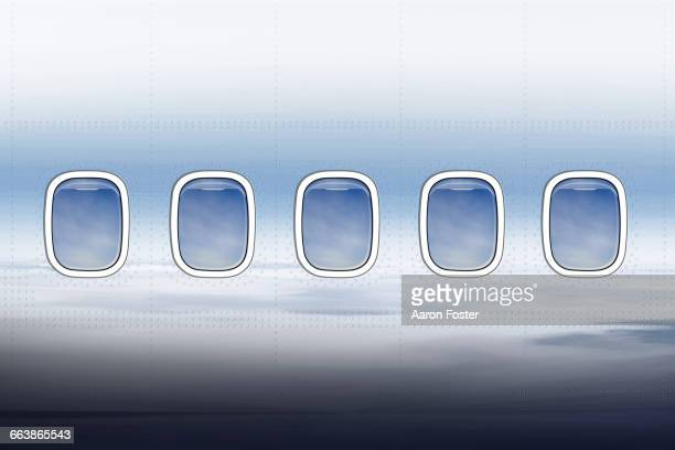 aircraft windows - outdoors stock illustrations