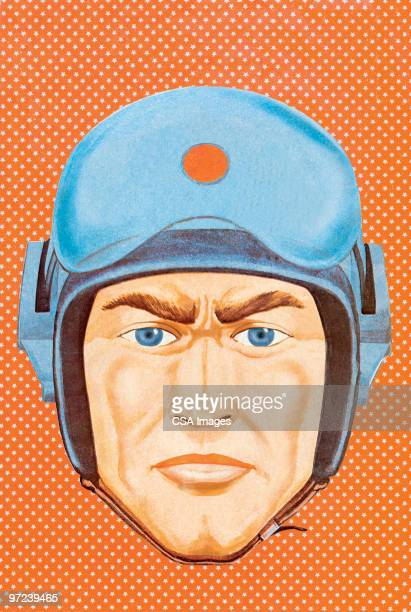 airman - helmet stock illustrations