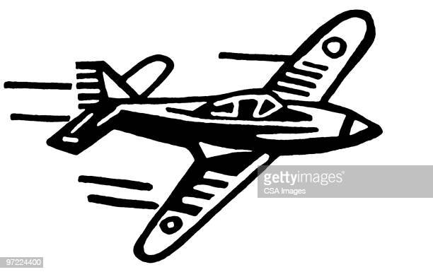 airplane - military stock illustrations