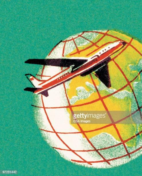 airplane - journey stock illustrations