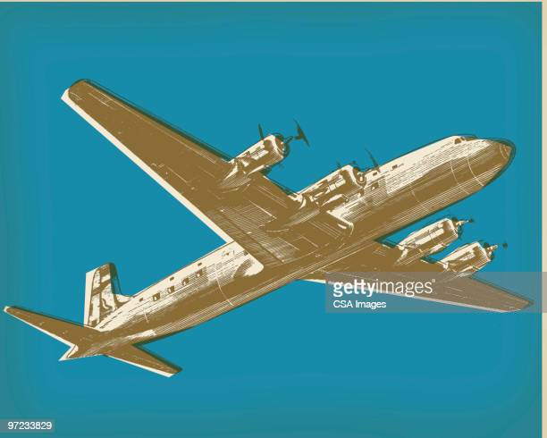 airplane - tail fin stock illustrations, clip art, cartoons, & icons