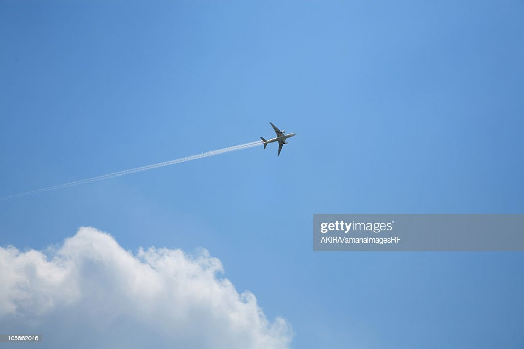 Airplane in the sky : stock illustration