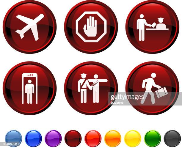 Airport Travel royalty free vector icon set