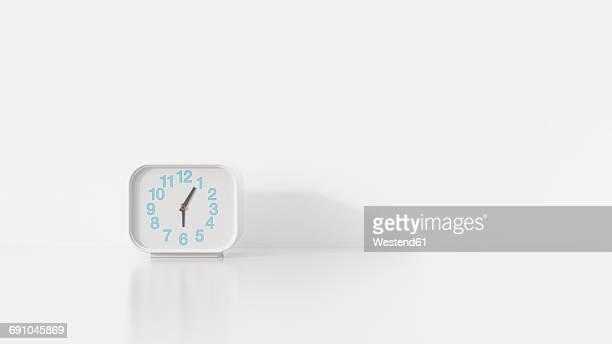 alarm clock, 3d rendering - alarm clock stock illustrations
