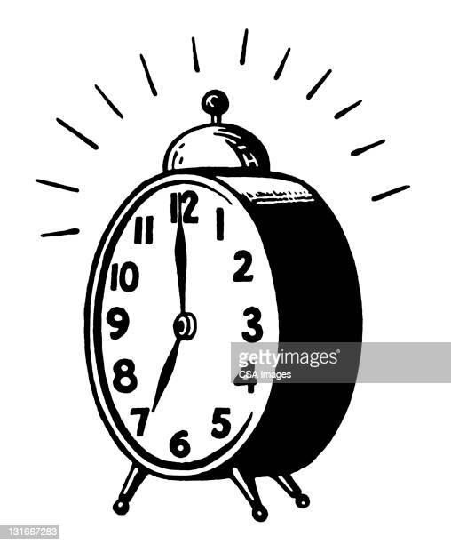 stockillustraties, clipart, cartoons en iconen met alarm clock - ochtend