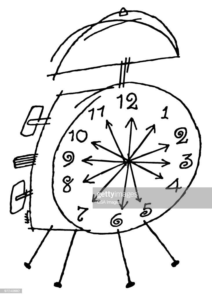 Alarm clock : Stock Illustration