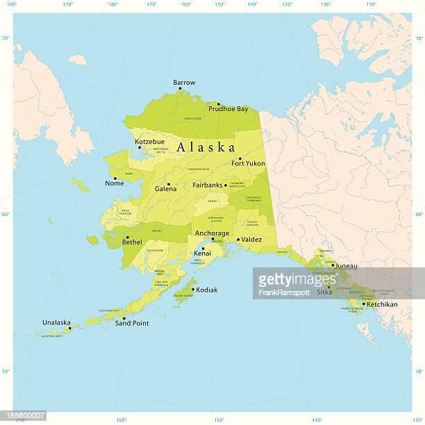 アラスカベクトルマップ - アラスカ点のイラスト素材/クリップアート素材/マンガ素材/アイコン素材