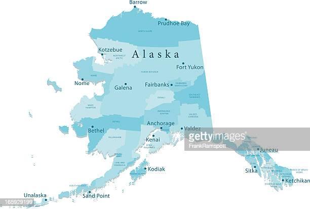アラスカベクトルマップ地域独立 - アラスカ点のイラスト素材/クリップアート素材/マンガ素材/アイコン素材