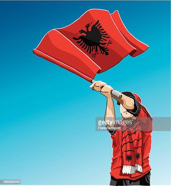 Albania Waving Flag Soccer Fan