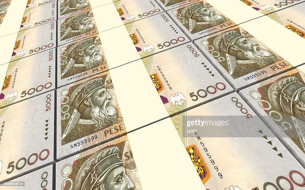 Albanian Lek Bills Stacks Background Stock Ilration