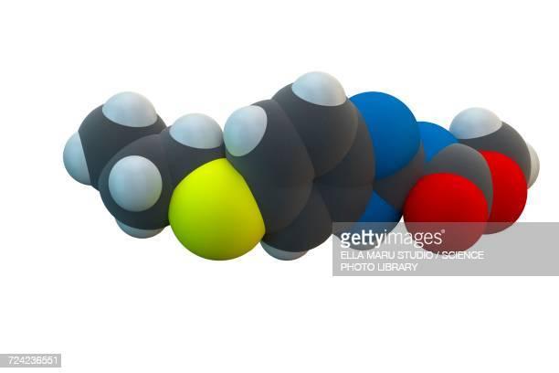 Albendazole anthelmintic drug molecule