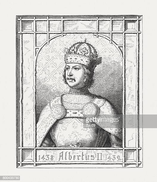 albert ii of germany (1397 - 1439), published 1876 - circa 14th century stock illustrations