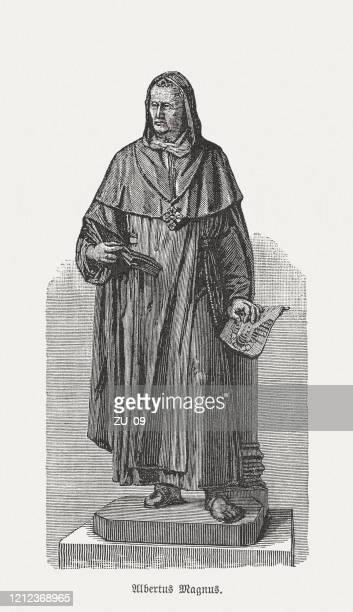 ilustrações, clipart, desenhos animados e ícones de albertus magnus (c.1200-1280), estudioso e bispo alemão, xiloga, publicado em 1893 - bishop clergy