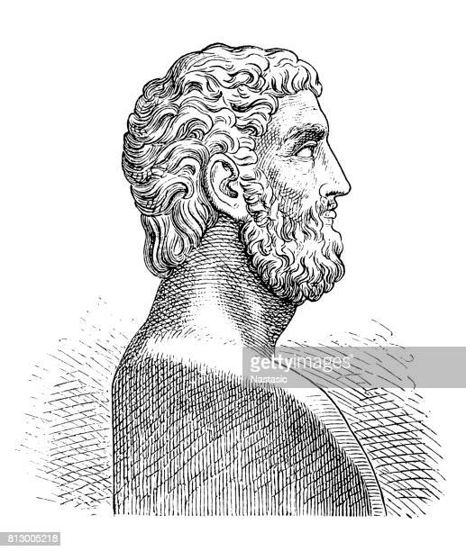 alcibiades (probably 451-404 bc), athenian statesman - athens georgia stock illustrations, clip art, cartoons, & icons