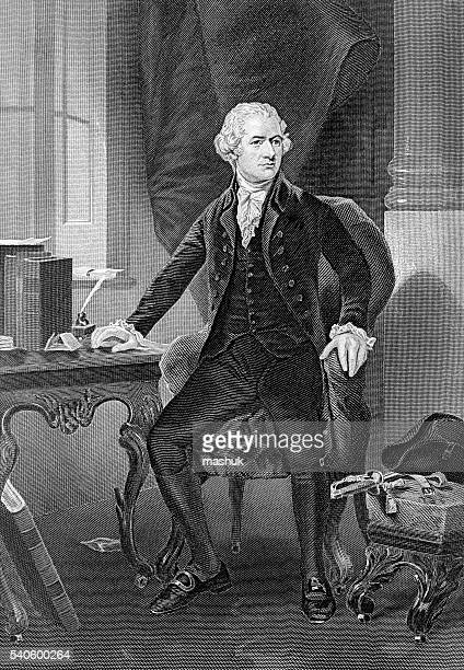 alexander hamilton famous american politician and founder - bill of rights stock illustrations