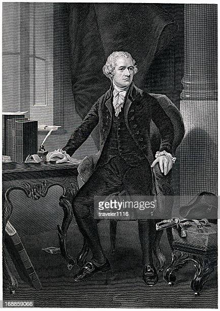 alexander hamilton - declaration of independence stock illustrations