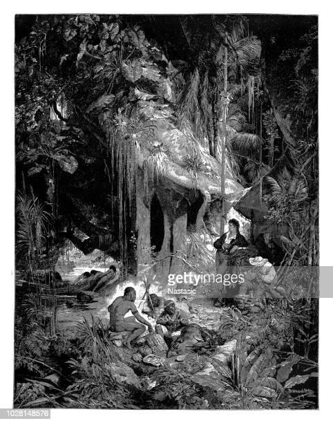 Alexander Humboldt y Aime Bonpland en el río Orinoco